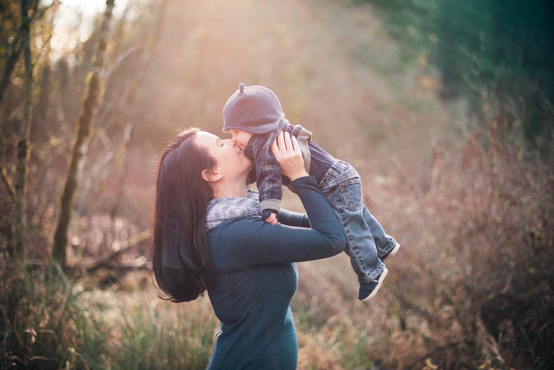 Portland Family Photographer, Fallen Leaf Park