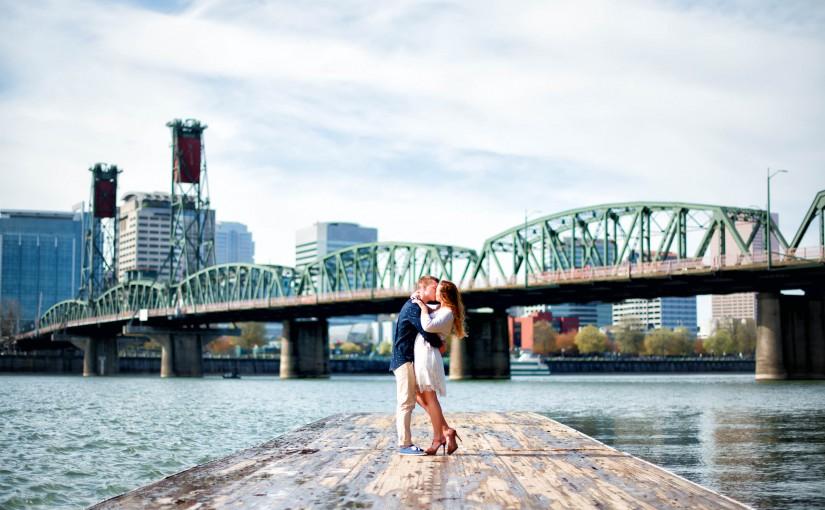 Portland Engagement Session, Hawthorne Bridge