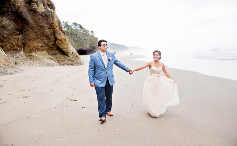 Portland Wedding Photographer, Cannon Beach Coastal Wedding, Juan and Kha-Mei