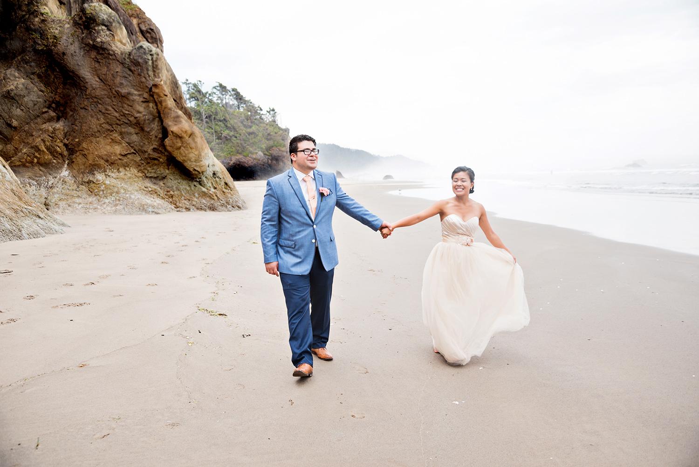 Portland Wedding Photographer Cannon Beach Coastal Juan And Kha Mei