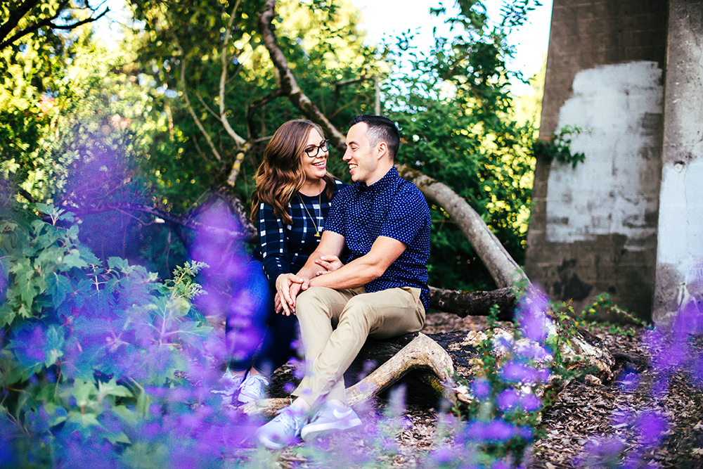 St. John's Portland Engagement Session, Cathedral Park, Damian and Jessica